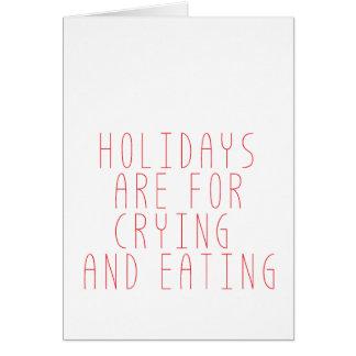 Les vacances sont pour pleurer carte