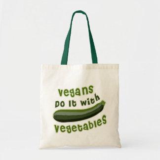 Les végétaliens le font avec des légumes sac en toile budget