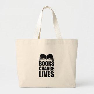Les vies de changement de livres sac en toile jumbo