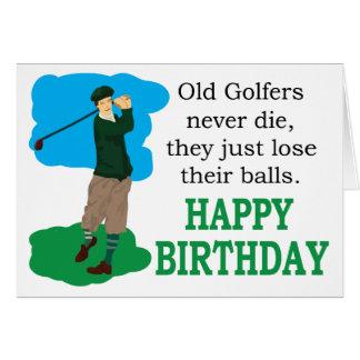 Les vieux golfeurs ne meurent jamais carte de vœux