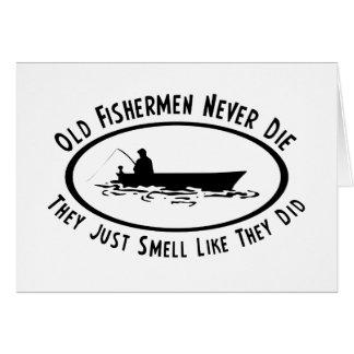 Les vieux pêcheurs ne meurent jamais carte de vœux