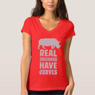 Les vraies licornes ont des courbes t-shirt
