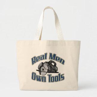 Les vrais hommes possèdent des outils sac en toile jumbo
