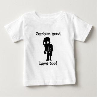 Les zombis ont besoin d'amour aussi t-shirt pour bébé
