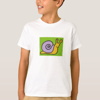 L'escargot badine le T-shirt