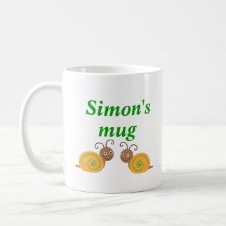 L'escargot initial personnalisé d'amusement de S Mug