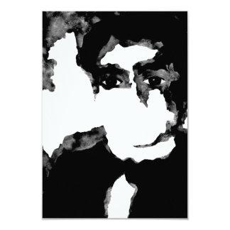 l'espace gris. jjp. carton d'invitation 8,89 cm x 12,70 cm