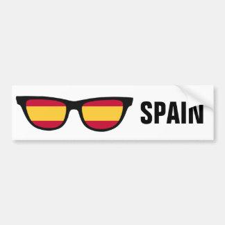 L'Espagne ombrage le bumpersticker fait sur Autocollant De Voiture