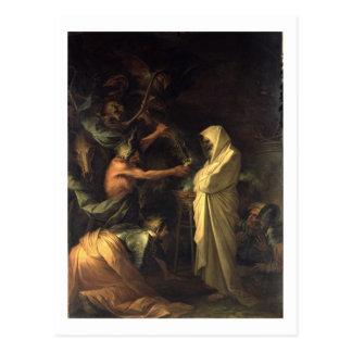 L'esprit de Samuel apparaissant à Saul au hous Carte Postale