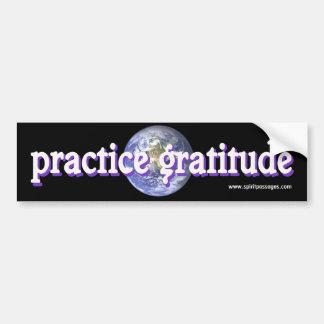 L'esprit passe l'autocollant de gratitude de prati autocollant de voiture