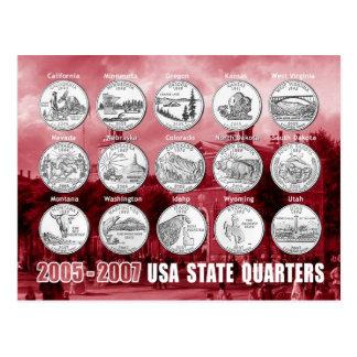 L'état des Etats-Unis divise (des pièces de Carte Postale