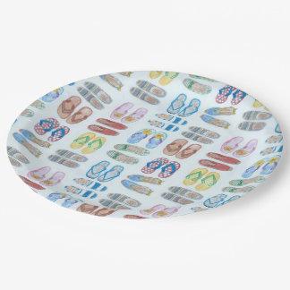 L'été est pour la plaque à papier de sandales assiettes en papier