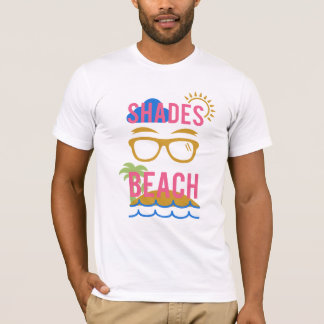 L'été tropical d'amusement ombrage le T-shirt de