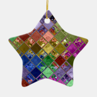 L'étincelle couvre de tuiles l'art de mosaïque ornement étoile en céramique