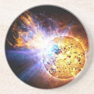L'étoile de demi-portion lâche la NASA géante de Dessous De Verre En Grès