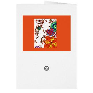 Lettre/carte croissantes de jardin carte