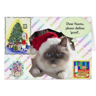 Lettre de Noël Carte