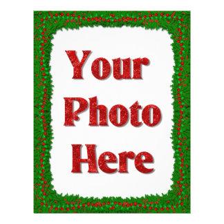 Lettre et photo de Noël Prospectus 21,6 Cm X 24,94 Cm