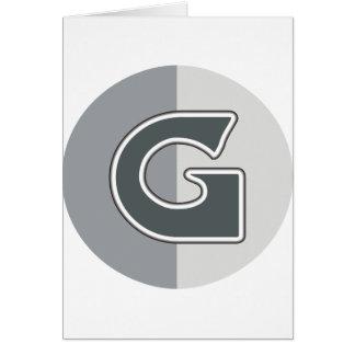 Lettre G Carte