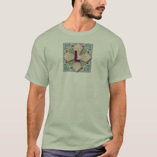 Lettre géométrique L T-shirt