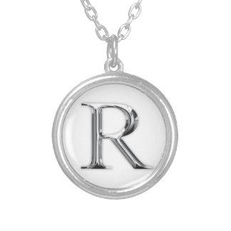 Lettre initiale pendentif rond
