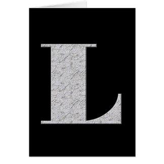 Lettre L de monogramme Carte