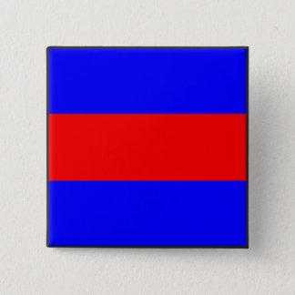 lettre maritime du numéro trois de drapeau de badge carré 5 cm