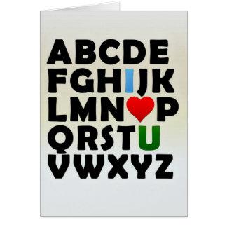 Lettres d'amour carte
