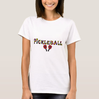 Lettres d'art de Pickleball T-shirt