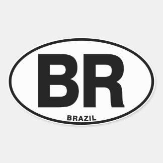 Lettres de code internationales ovales d'identité sticker ovale