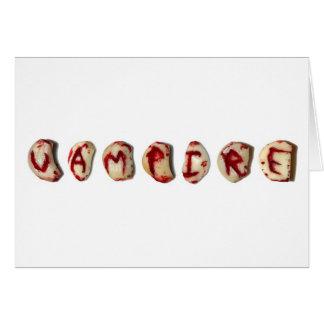 lettres de vampire carte