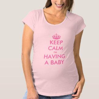 Leuk moederschapsoverhemd | houdt kalm ik heb een zwangerschapskleding