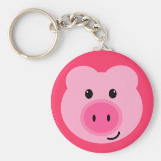 Leuk Roze Varken Keychain Sleutelhanger