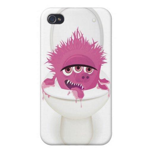 leuk toiletmonster in vector iPhone 4 case