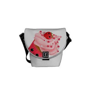 Leuke Aardbei Cupcake Messenger Bag