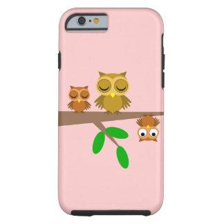 leuke en grappige uilen tough iPhone 6 hoesje