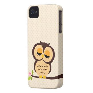 Leuke Oranje Uil iPhone 4 Case