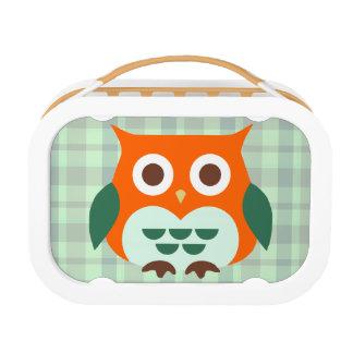 Leuke Oranje Uil Lunchbox