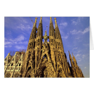 L'Europe, Espagne, Barcelone, Sagrada Familia Carte