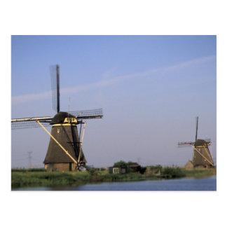 L'Europe, Pays-Bas, Zuid Hollande, Kinderdijk. Carte Postale
