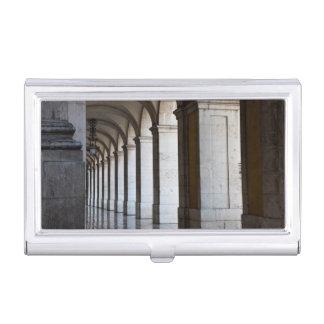 L'Europe, Portugal, Lisbonne. Colonnes de l'arcade Étui Pour Cartes De Visite