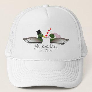 Leurres de canard de jeunes mariés casquette