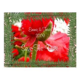 Levendig Rood Briefkaart