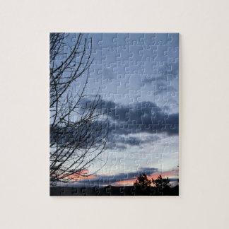 Lever de soleil de ciel bleu puzzle