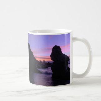 Lever de soleil semi-transparent mug