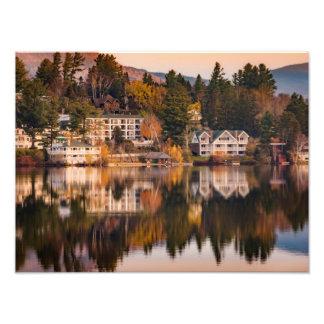 Lever de soleil sur la copie de photo de lac