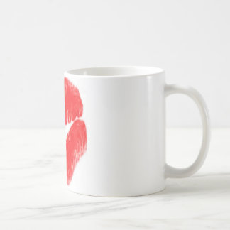 Lèvres rouges mug blanc