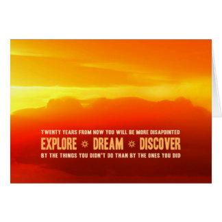 L'explorez. Rêve. Découvrez Carte De Correspondance