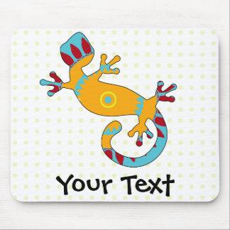 Lézard coloré de Gecko d'amusement Tapis De Souris