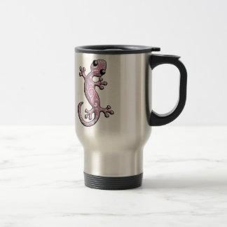Lézard rose de Gecko de Paisley Mug De Voyage